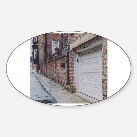 Funny Old buildings Sticker (Oval)