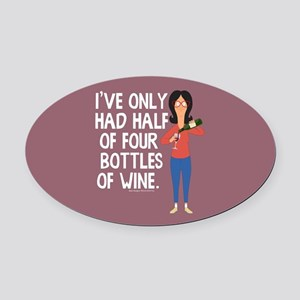 Bob's Burgers Wine Oval Car Magnet