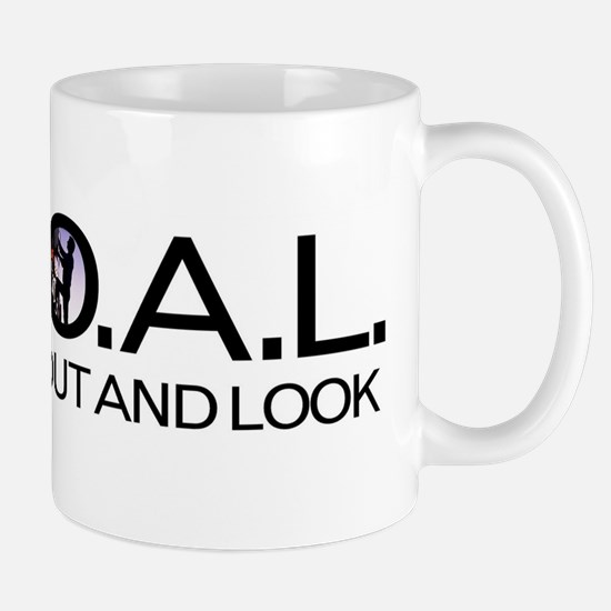 G.O.A.L. Get Out And Look Mugs