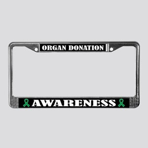 Organ Donation Awareness License Plate Frame