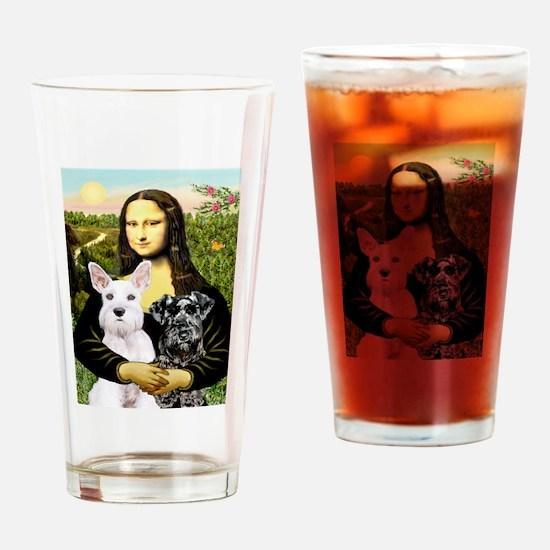 Mona-2 Schnauzers Drinking Glass