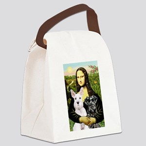 Mona-2 Schnauzers Canvas Lunch Bag