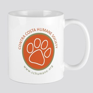 CCHS paw round logo with web site Mugs