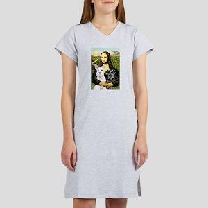 Mona-2 Schnauzers Women's Nightshirt