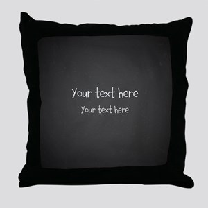 Custom Text Blackboard Throw Pillow