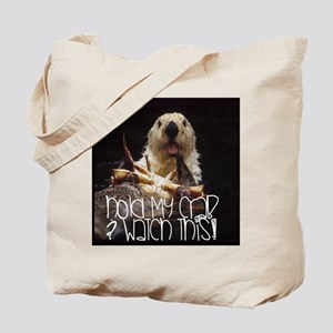 Otter: Hold my crab Tote Bag
