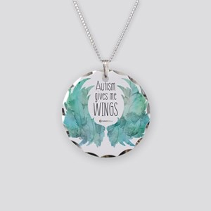 Autism Wings (CC) Necklace Circle Charm
