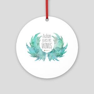 Autism Wings (CC) Round Ornament