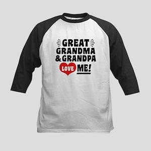 Great Grandma and Grandpa Lov Kids Baseball Jersey