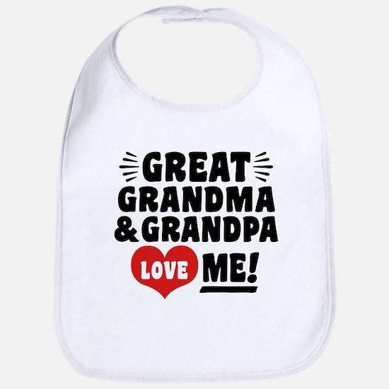 Great Grandma and Grandpa Love Me Bib