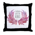 Autism Wings (WC) Throw Pillow