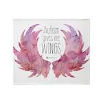 Autism Wings (WC) Throw Blanket