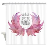 Autism Wings (WC) Shower Curtain