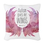 Autism Wings (WC) Woven Throw Pillow