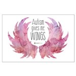 Autism Wings (WC) Large Poster