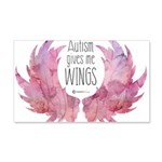 Autism Wings (WC) 20x12 Wall Decal
