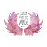 Autism Wings (WC) 35x21 Wall Decal