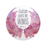 Autism Wings (WC) Button