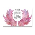 Autism Wings (WC) Rectangle Car Magnet