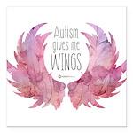 Autism Wings (WC) Square Car Magnet 3