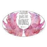 Autism Wings (WC) Sticker (Oval 10 pk)