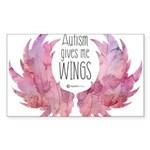 Autism Wings (WC) Sticker (Rectangle 50 pk)