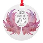 Autism Wings (WC) Round Ornament