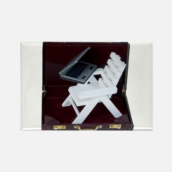Beach Chair Laptop Briefcase Magnets