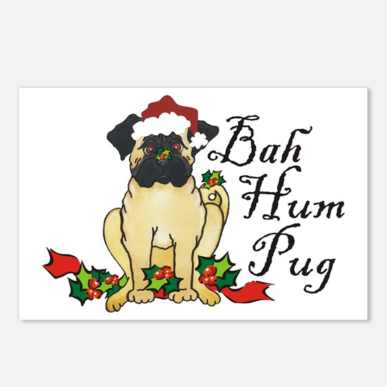 Bah Hum Bug Pug Postcards (Package of 8)