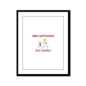 Aiden & Grandma - Buddies Framed Panel Print