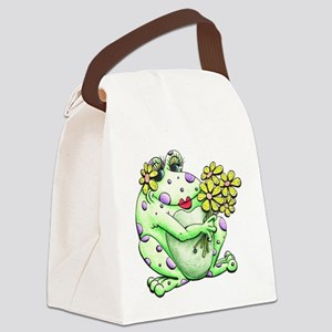 Flower Frog Canvas Lunch Bag