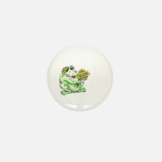 Flower Frog Mini Button