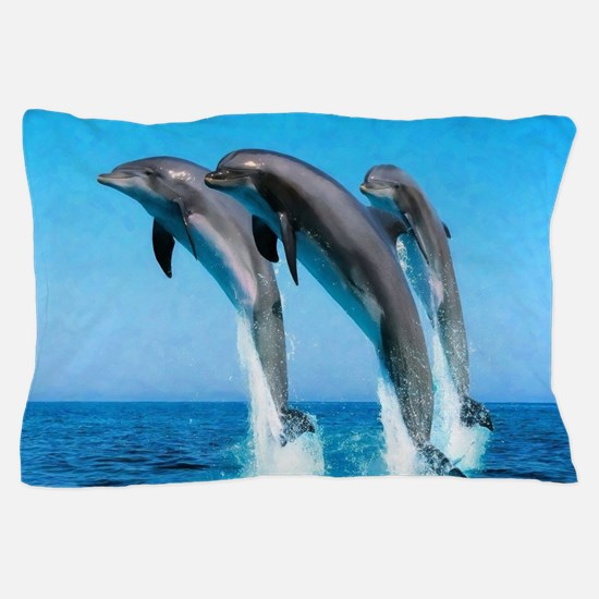 3 Dolphins Pillow Case