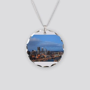Downtown pittsburgh Necklace Circle Charm
