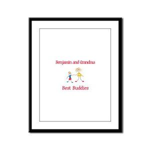 Benjamin & Grandma - Buddies Framed Panel Print