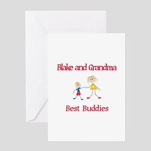 Blake & Grandma - Buddies Greeting Card