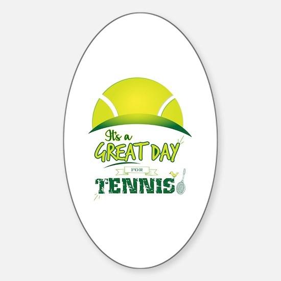 Unique Tennis ball Sticker (Oval)