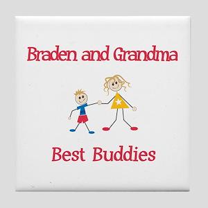 Braden & Grandma - Buddies Tile Coaster