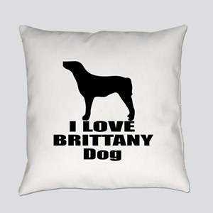 I Love Brittany Dog Everyday Pillow