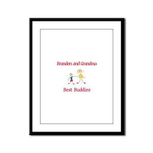 Brandon & Grandma - Buddies Framed Panel Print