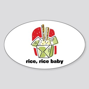 Rice Rice Baby Oval Sticker