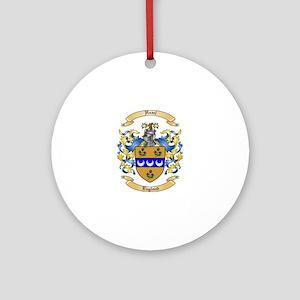 Hazel Family Crest Round Ornament