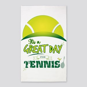 It's a Great Day For Tennis Area Rug
