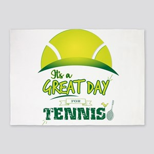It's a Great Day For Tennis 5'x7'Area Rug