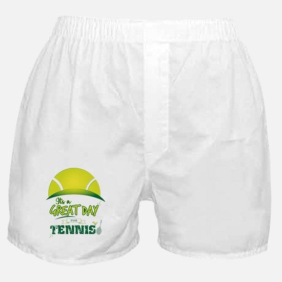 It's a Great Day For Tennis Boxer Shorts