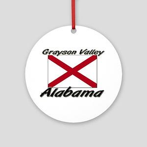 Grayson Valley Alabama Ornament (Round)
