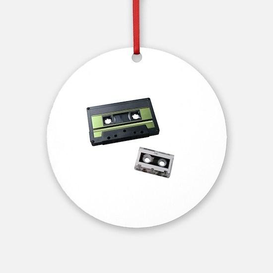 cassette tape Round Ornament