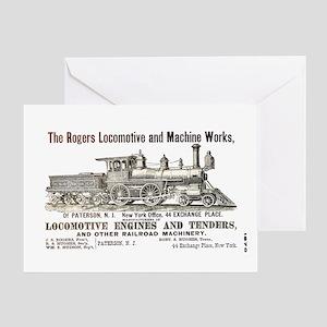 Rogers Locomotive Works 1870 Greeting Card