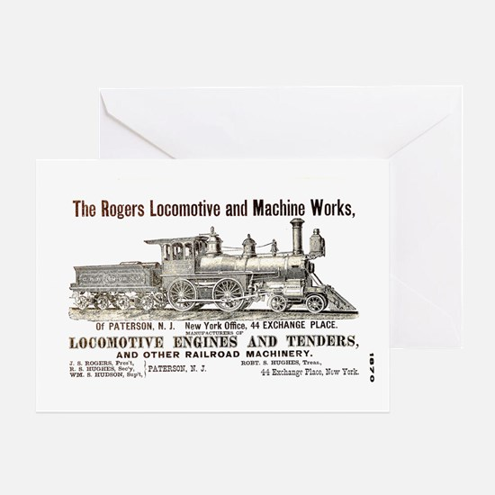 Rogers Locomotive Works 1870 Greeting Card