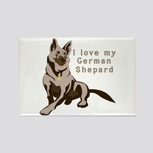 I Love My German Shepard Rectangle Magnet